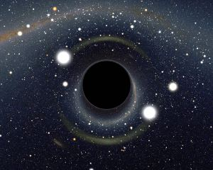 Featured is a computer generated image highlighting how strange things would look. The black hole has such strong gravity that light is noticeably bent towards it - causing some very unusual visual distortions. Every star in the normal frame has at least two bright images - one on each side of the black hole. Near the black hole, you can see the whole sky - light from every direction is bent around and comes back to you. Image Credit & Copyright: Alain Riazuelo Explanation: What would you see if you went right up to a black hole? Featured is a computer generated image highlighting how strange things would look. The black hole has such strong gravity that light is noticeably bent towards it - causing some very unusual visual distortions. Every star in the normal frame has at least two bright images - one on each side of the black hole. Near the black hole, you can see the whole sky - light from every direction is bent around and comes back to you.