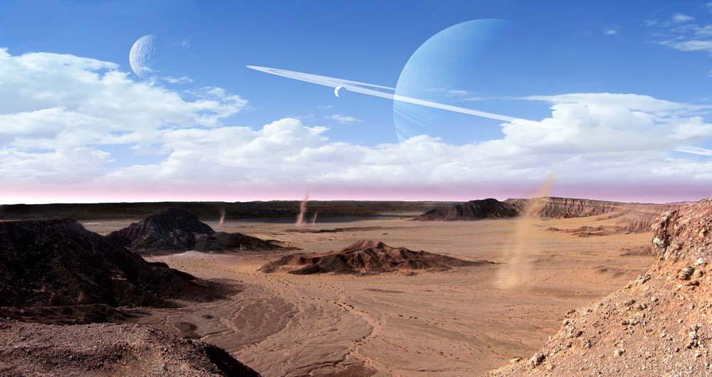 exoplanet landscape orbiting giant planet - photo #16