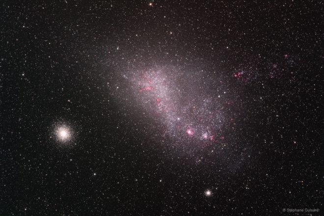 The Small Magellanic Cloud pictured above actually spans 15,000 light-years or so and contains several hundred million stars. About 210,000 light-years distant in the constellation Tucana, it is the fourth closest of the Milky Way's known satellite galaxies after the Canis Major and Sagittarius Dwarf galaxies and the Large Magellanic Cloud. (NASA/ESO/Stéphane Guisard)