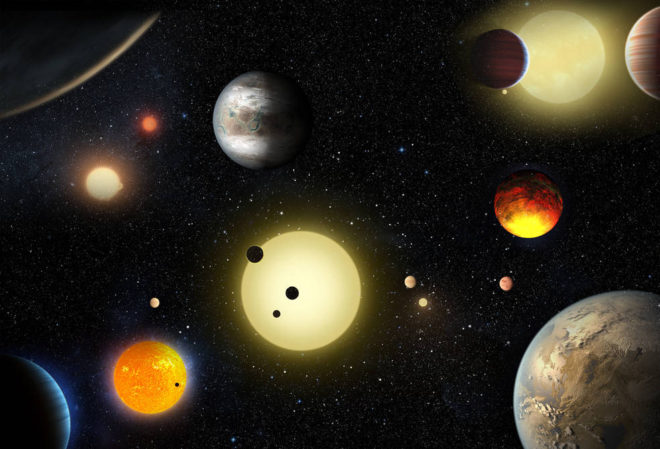Biggest announce of discovred exoplanets by Kepler. (No, those are not real images, but still...)